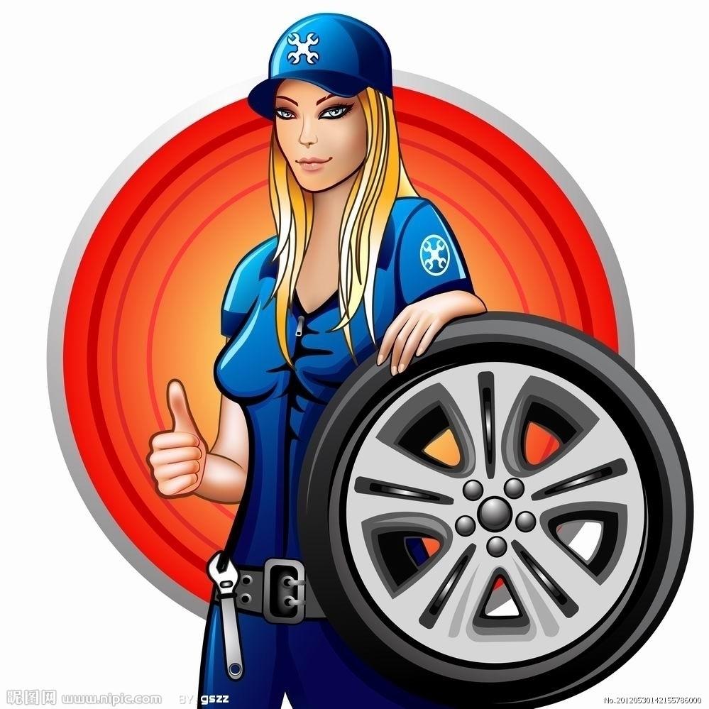 汽车轮胎维修图标素材